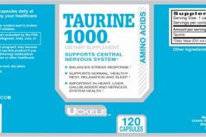 Uckele Health & Nutrition Taurine 1000