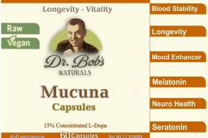 Mood Enhancer - Mucuna - Veggie Capsules (60 Capsules) - Best Sellers Watershed Wellness Center