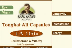 Tongkat Ali 100x Capsules (30 Capsules) - Sports Nutrition Watershed Wellness Center