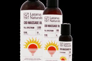 CBD Massage Oil | Vegan and Gluten Free | Lazarus Naturals