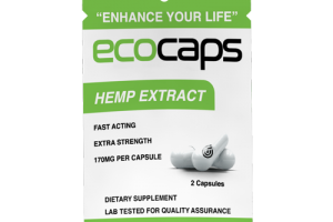 ECOCAPS Travel Sachet | 2 pills with a Total of 60mg of CBD | EcoSciences | Eco Sciences