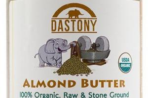 Stone Ground Organic Raw Almond Butter -16 oz