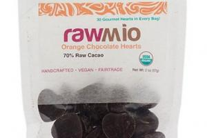 Rawmio Orange Chocolate Hearts
