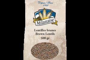 Organic Brown Lentils – La Milanaise
