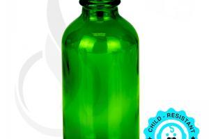 60ml Green Glass Bottle 20-400 - Liquid Bottles LLC