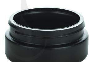 8oz Black Cannabis Plastic Jar (LID SOLD SEPARATELY) - Liquid Bottles LLC