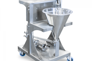 Volumetric piston pump built on a mobile cart - CDA USA