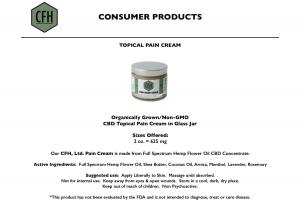 CFH Pain Cream Information Page