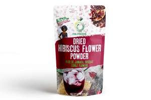 Iyafoods, GlutenFree, Hibiscus Flower Powder, Kosher Certified (Hibiscus Sabdariffa Flower Powder,Dry Roselle Powder) Non GMO, No Preservative