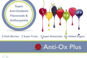 Anti-Ox Plus high antioxidant shelf stable fruit drink blend.