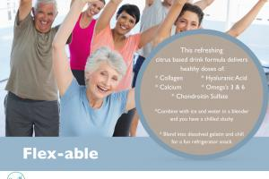 Flex-Able refreshing citrus based private label powder blend for bodies in motion