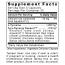 Premier Research Labs Tyrosine Matrix Supplement Facts Panel